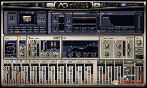 Скриншот программы Addictive Drums для Windows XP