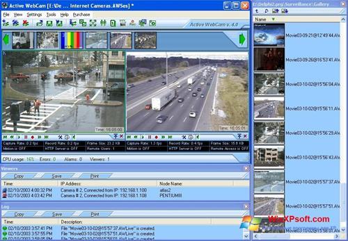 Скриншот программы Active WebCam для Windows XP