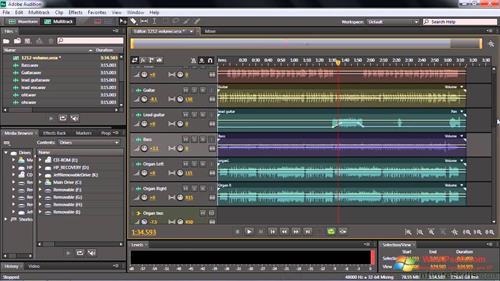 Скриншот программы Adobe Audition CC для Windows XP