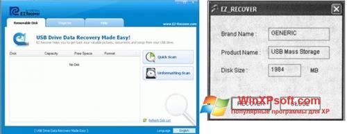 Скриншот программы EzRecover для Windows XP