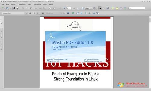 Скриншот программы Master PDF Editor для Windows XP