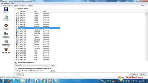 Скриншот программы BadCopy Pro для Windows XP