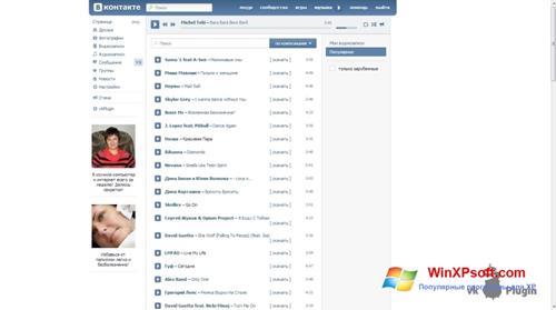 Скриншот программы vkPlugin для Windows XP
