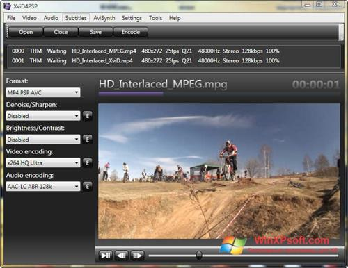 Скриншот программы XviD4PSP для Windows XP