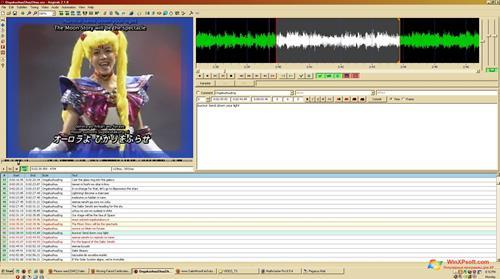 Скриншот программы Aegisub для Windows XP