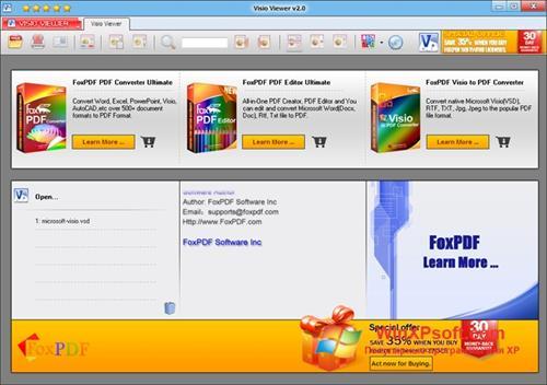 Скриншот программы Microsoft Visio Viewer для Windows XP