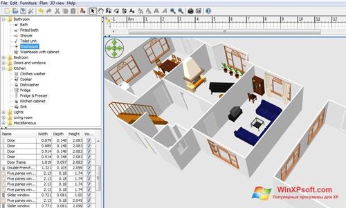 Скриншот программы FloorPlan 3D для Windows XP