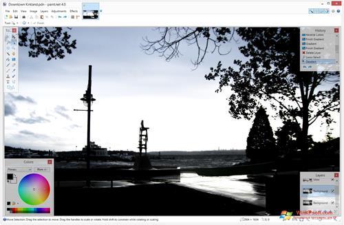 Скриншот программы Paint.NET для Windows XP