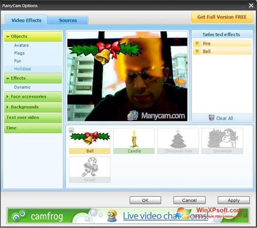 Скриншот программы ManyCam для Windows XP