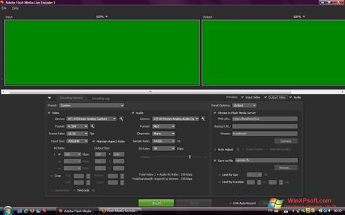 Скриншот программы Adobe Media Encoder для Windows XP