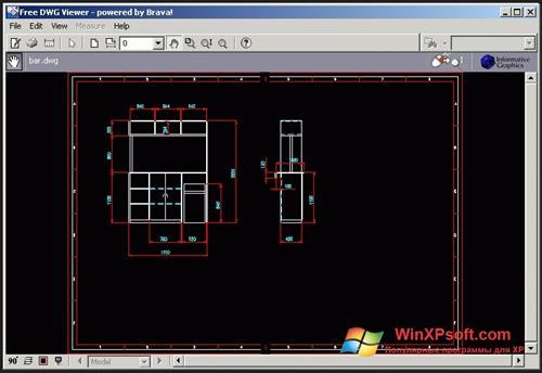 Скриншот программы DWG Viewer для Windows XP