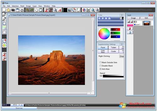 Скриншот программы Pixia для Windows XP