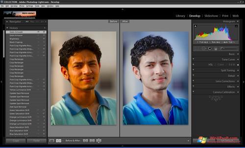 Скриншот программы Adobe Photoshop Lightroom для Windows XP