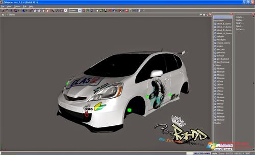 Скриншот программы ZModeler для Windows XP