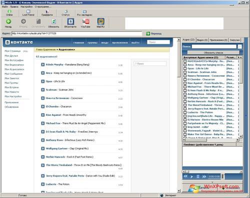 Скриншот программы VKlife для Windows XP