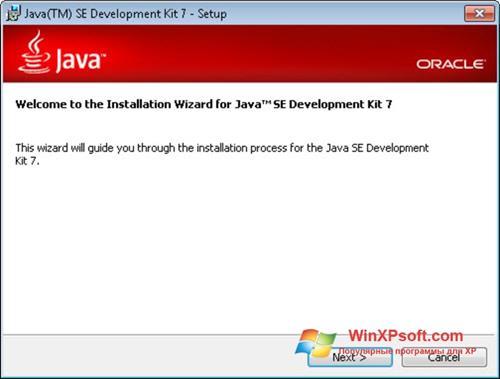 Скриншот программы Java Development Kit для Windows XP
