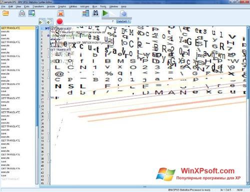 Скриншот программы SPSS для Windows XP