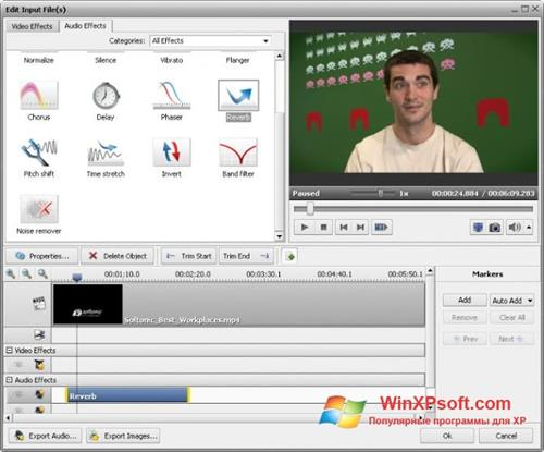 Скриншот программы AVS Video Converter для Windows XP