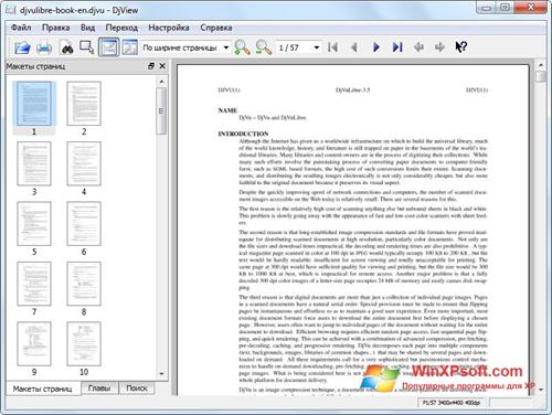 Скриншот программы DjView для Windows XP