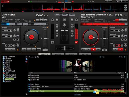Скриншот программы Virtual DJ для Windows XP