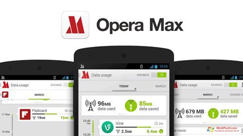 Скриншот программы Opera Max для Windows XP