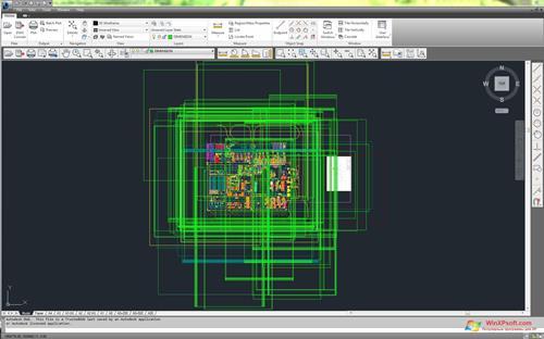 Скриншот программы DWG TrueView для Windows XP