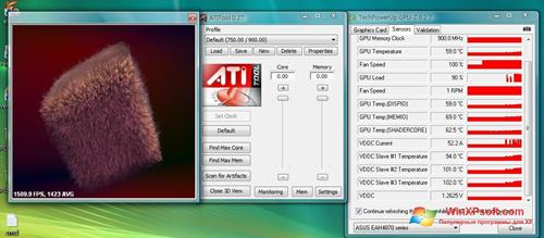 Скриншот программы ATITool для Windows XP