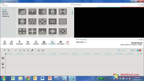 Скриншот программы Wondershare Filmora для Windows XP
