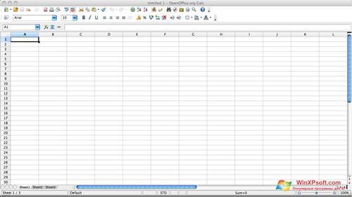 Скриншот программы OpenOffice для Windows XP
