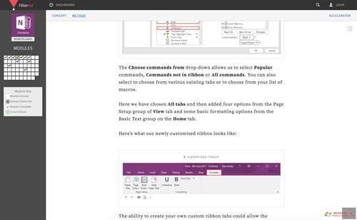 Скриншот программы Microsoft OneNote для Windows XP