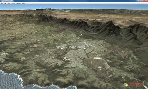 Скриншот программы NASA World Wind для Windows XP