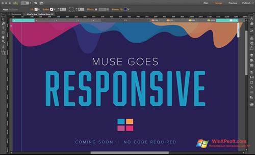 Скриншот программы Adobe Muse для Windows XP