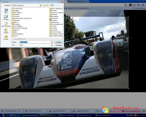 Скриншот программы LightShot для Windows XP