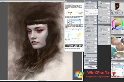 Скриншот программы Corel Painter для Windows XP