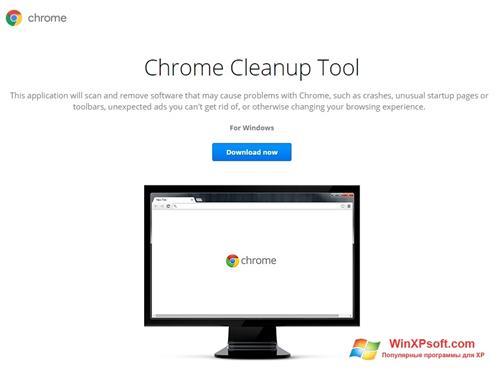 Скриншот программы Chrome Cleanup Tool для Windows XP